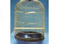 Золотая клетка, Средняя круглая высокая DIVA для птиц, золото (40х70 см.)